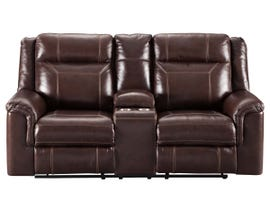 Signature Design by Ashley Power Reclining Loveseat with Console in Coffee 7170118