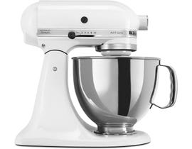 KitchenAid Artisan Series 5-Quart Tilt-Head Stand Mixer in White KSM150PSWH