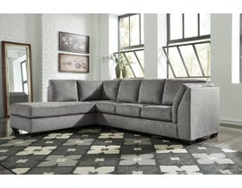 Signature Design by Ashley Belcastel Series LAF Corner Chaise Sectional in Ash 72305