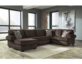 Signature Design by Ashley Jinllingsley LAF Corner Chaise Sectional in Chocolate 72501