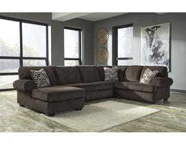 Signature Design by Ashley Jinllingsly Series LAF Corner Chaise Sectional in Chocolate 7250167-34-16