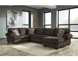Signature Design by Ashley Jinllingsly RAF Corner Chaise Sectional in Chocolate 72501