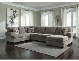 Signature Design by Ashley Jinllingsly Series RAF Corner Chaise Sectional in Gray 72502S2