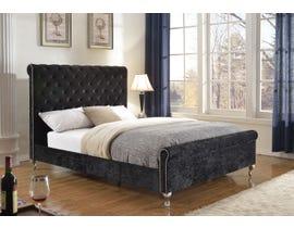 Brassex Victoria King Platform Bed in Black 7316K-A-BLK
