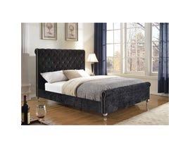 Brassex Victoria Platform Queen Bed Frame Black 7316Q-BLK