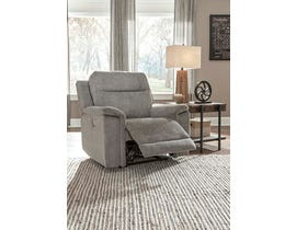 Signature Design by Ashley Mouttrie Series PWR Recliner/ADJ Headrest in Smoke 7320513