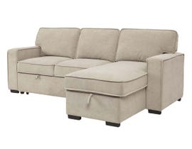 Signature Design by Ashley Darton Series Fabric RAF Sectional w/pull out sleeper in Cream 73506