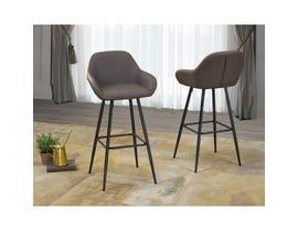 Brassex Alexis Vintage Brown 30-inch Bar Chair HY-7420-30-BR (set of 2)
