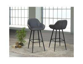 Brassex Alexis Vintage Grey 30-inch Bar Chair HY-7420-30-GR (set of 2)