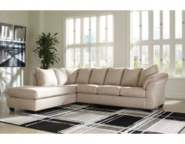 Signature Design by Ashley Darcy Collection 2-Piece Sectional with Chaise in Stone 75000S2