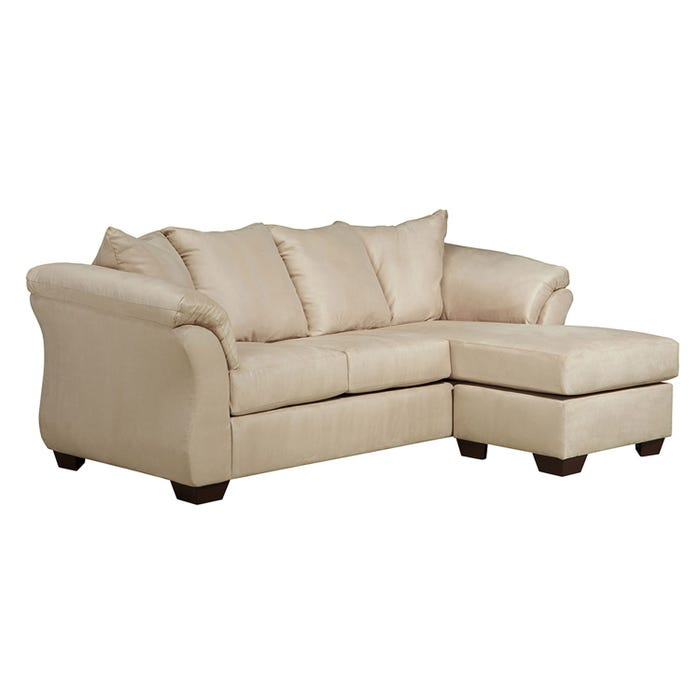 Signature Design by Ashley sofa and Chaise in Darcy stone beige 7500018