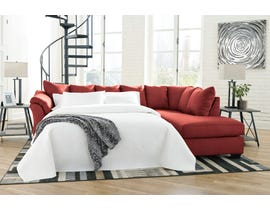 Signature Design by Ashley Darcy Collection 2-Piece Sectional with Chaise and Sleeper in Salsa 75001S5