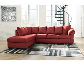 Signature Design by Ashley Darcy Collection 2-Piece Sectional with Chaise in Salsa 75001S2
