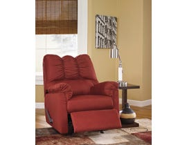 Signature Design by Ashley fabric Rocker Recliner Darcy in salsa red 7500125