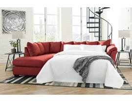 Signature Design by Ashley Darcy Collection 2-Piece Sectional with Chaise and Sleeper in Salsa 75001S3