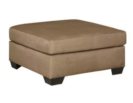 Signature Design by Ashley Oversized Accent Ottoman in Mocha 7500208