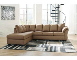 Signature Design by Ashley 2-Piece Sectional with Chaise in Mocha 75002S2
