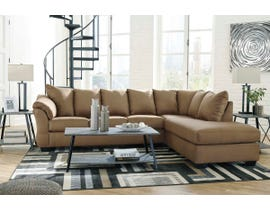 Signature Design by Ashley 2-Piece Sectional with Chaise in Mocha 75002S4