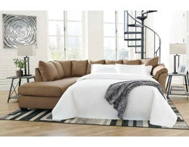 Signature Design by Ashley 2-Piece Sectional with Chaise and Sleeper in Mocha 75002S3