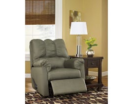 Signature Design by Ashley fabric Rocker Recliner Darcy in sage brown 7500325