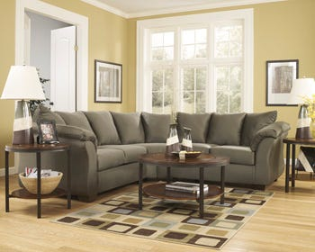 Signature Design by Ashley 2-Piece Sectional in Sage grey 75003S1