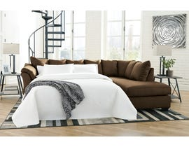 Signature Design by Ashley 2-Piece Sectional with Chaise and Sleeper in Cafe  75004S5