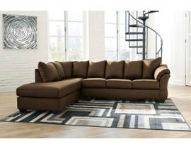 Signature Design by Ashley 2-Piece Sectional with Chaise in Cafe  75004S2