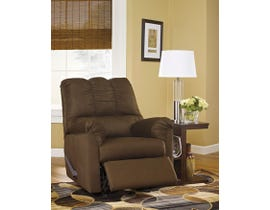 Signature Design by Ashley fabric Rocker Recliner Darcy in cafe dark brown 7500425