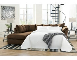 Signature Design by Ashley 2-Piece Sectional with Chaise and Sleeper in Cafe  75004S3
