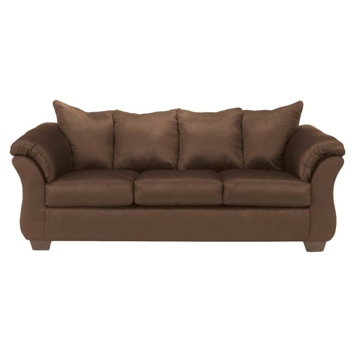 Signature Design by Ashley Darcy Fabric Sofa in Cafe Dark Brown 7500438