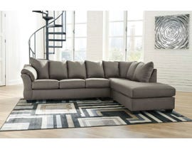 Signature Design by Ashley 2-Piece Sectional with Chaise in Cobblestone 75005S4