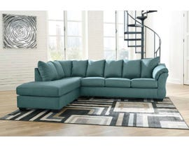 Signature Design by Ashley 2-Piece Sectional with Chaise in Sky 75006S2