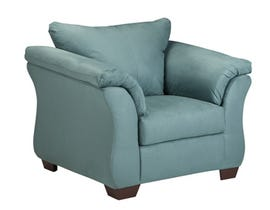 Signature Design by Ashley Darcy Fabric Chair in Sky Blue 7500620
