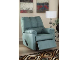 Signature Design by Ashley fabric Rocker Recliner Darcy in sky blue 7500625