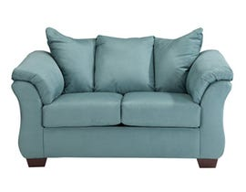 Signature Design by Darcy Fabric Ashley Loveseat in Sky Blue 7500635