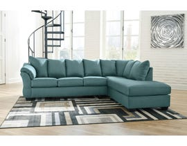 Signature Design by Ashley 2-Piece Sectional with Chaise in Sky 75006S4