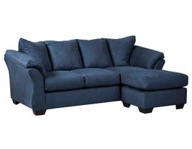 Signature Design by Ashely Darcy Series Sofa Chaise in blue 75007-18