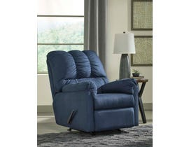 Signature Design by Ashely Darcy Series Rocker Recliner in Blue 7500725