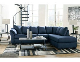 Signature Design by Ashley 2-Piece Sectional with Chaise in Blue 75007S4
