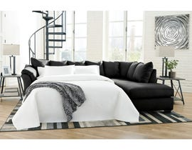 Signature Design by Ashley 2-Piece Sectional with Chaise and Sleeper in Black 75008S5