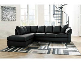 Signature Design by Ashley 2-Piece Sectional with Chaise in Black 75008S2