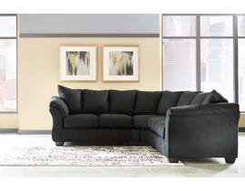 Signature Design by Ashley 2-Piece Sectional Black finish 75008S1