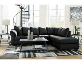 Signature Design by Ashley 2-Piece Sectional with Chaise in Black 75008S4