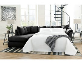 Signature Design by Ashley 2-Piece Sectional with Chaise and Sleeper in Black 75008S3