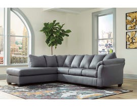 Signature Design by Ashley 2-Piece Sectional with Chaise in Steel 75009S2