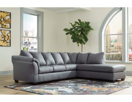 Signature Design by Ashley 2-Piece Sectional with Chaise in Steel 75009S4