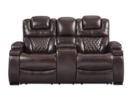 Signature Design by Ashley Power Reclining Loveseat with Console in Chocolate 7540718