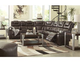 Signature Design by Ashley 3-Piece Reclining Sectional with Power in Chocolate 75407S1