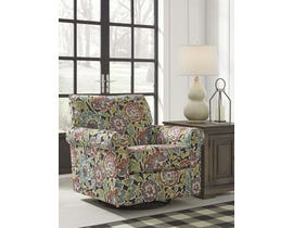 Signature Design by Ashley Harrietson Series Swivel Clider Accent Chair in Dahlia 7660442