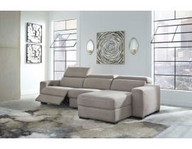 Signature Design by Ashley Mabton Series 3pc Fabric Sectional in Gray 77005-58-46-97